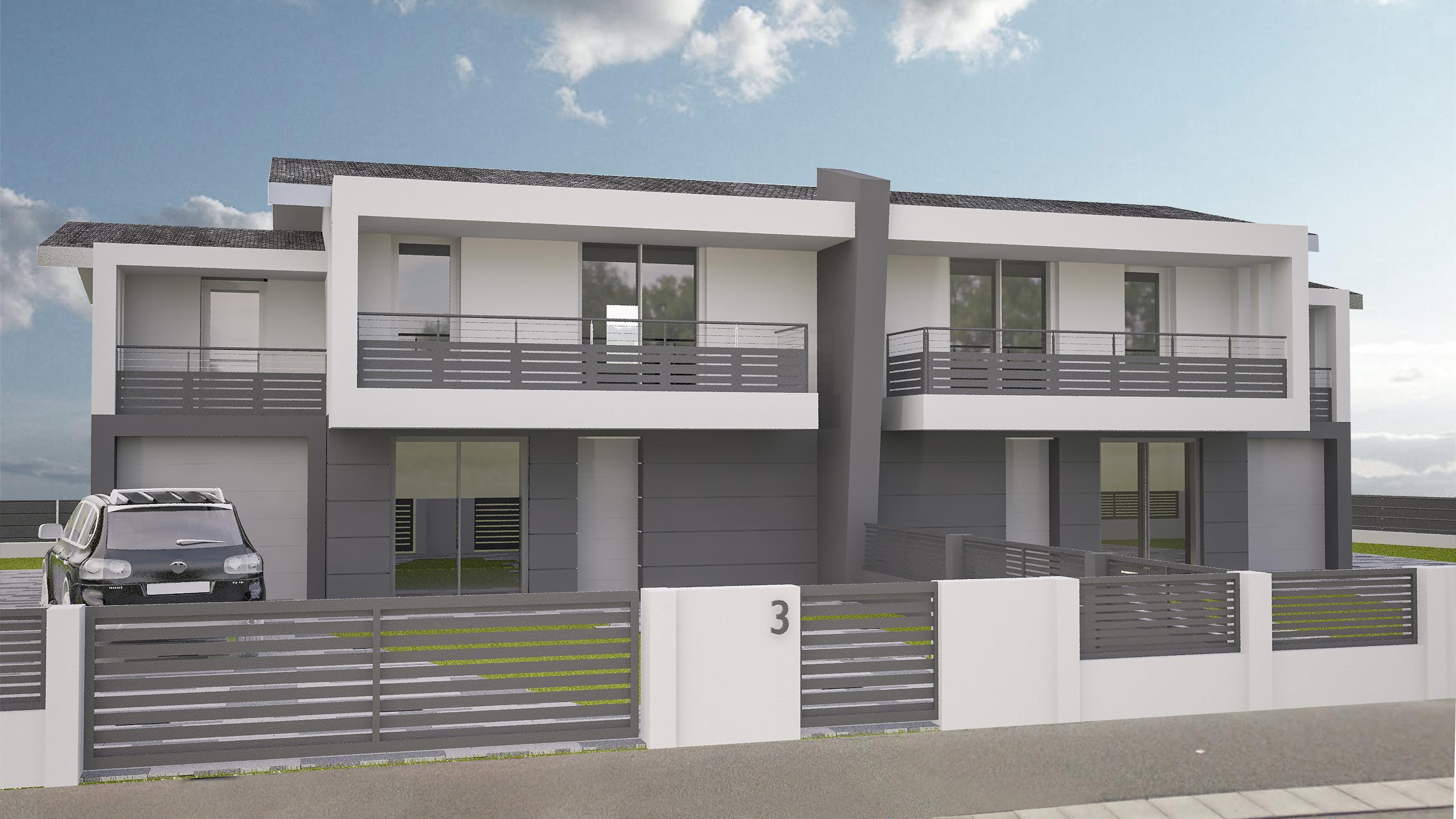 Villa bifamiliare in classe A4 di nuova costruzione.