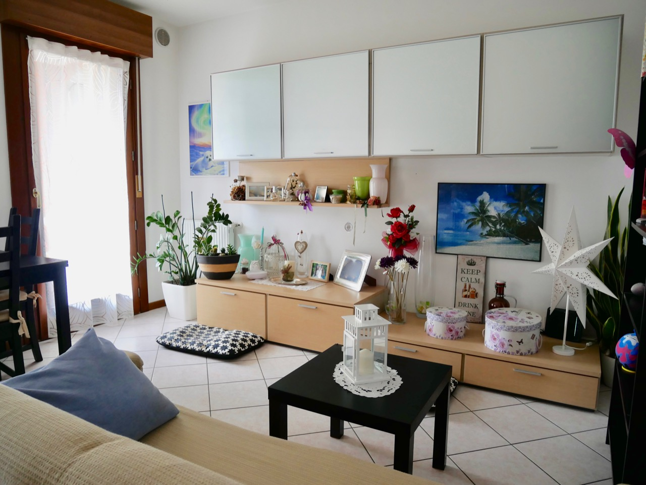 Appartamento bilocale con giardino e garage.