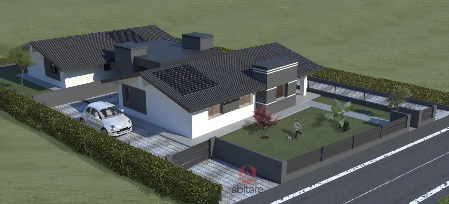 Villa abbinata ad unico livello, di nuova costruzione.